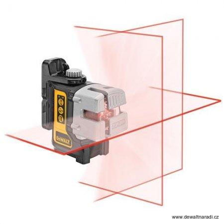 Laser se třemi paprsky Dewalt DW089KPOL s rozpěrnou tyčí