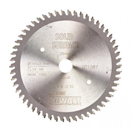 Pilový kotouč DeWALT EXTREME® TRESPA 165x20 mm