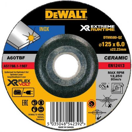 Brusný kotouč DeWALT XR Runtime Flexvolt Ceramic /bal.1ks/