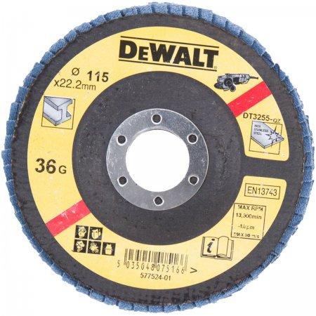 Brusný kotouč lamelový na kov DeWALT