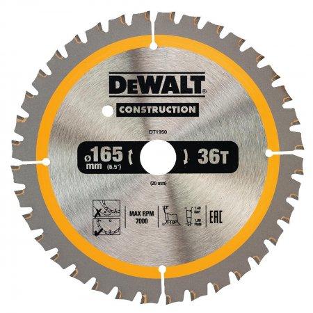 Pilový kotouč DeWALT CONSTRUCTION 165x20 mm