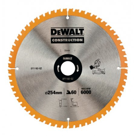 Pilový kotouč DeWALT CONSTRUCTION 254x30 mm