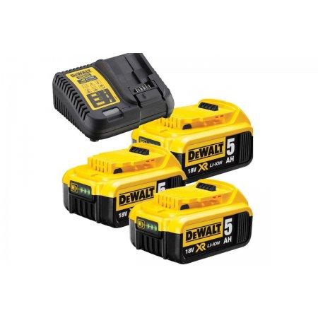 Sada nabíječky a akumulátorů Dewalt DCB115P3 3 x 18V/5,0Ah