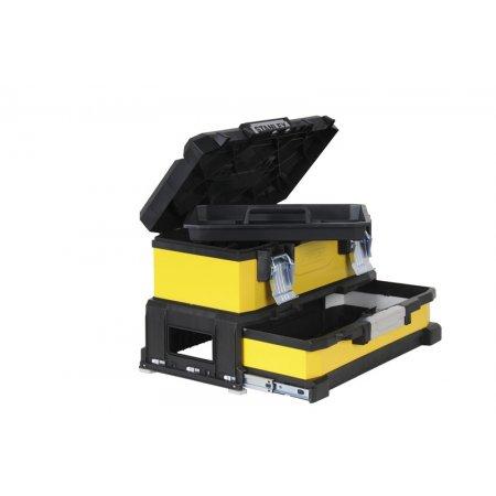 Kovoplastový box Stanley na nářadí se zásuvkou 1-95-829