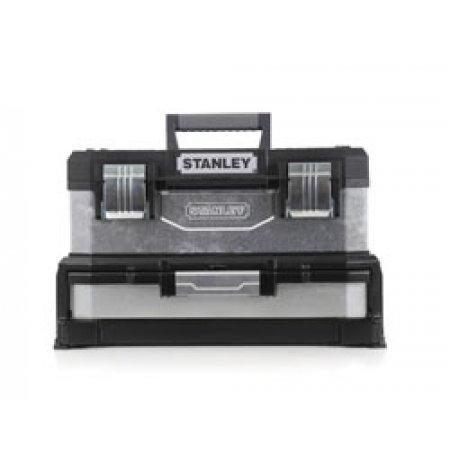 Kovoplastový box Stanley na nářadí se zásuvkou galvanizova 1-95-830
