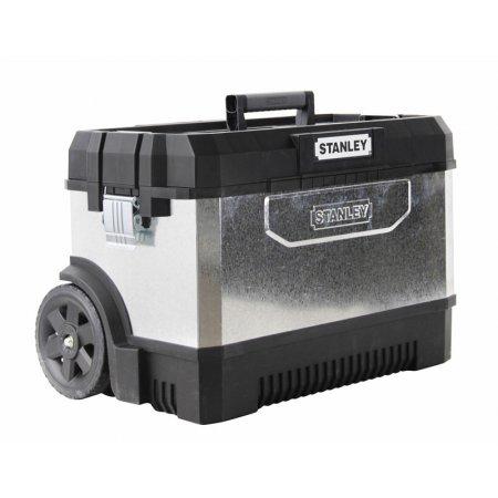 Kovoplastová bedna Stanley na nářadí černá/galvanizovaná 1-95-828