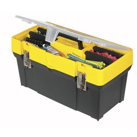 """Box Stanley 19"""" na nářadí s průhledným víkem a organizerem 1-93-285"""