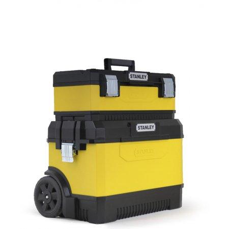 Kovoplastový pojízdný box Stanley + box na nářadí 1-95-831
