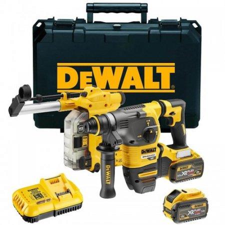 Aku kombinované kladivo s odsáváním 2x9 Ah Dewalt FLEXVOLT DCH335X2